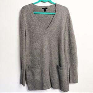 J. Crew Wool V-Neck Tunic Sweater